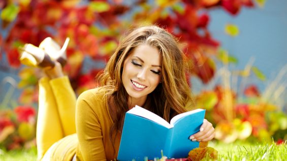 Smile-Woman-Book-Reading